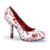 BLOODY-12 White/Red Patent